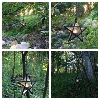 Star-Hanging Lighted Photo Idea - Idea Gallery - Hanging stars for outdoor events